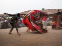 Tanz der Geister in der Tradition des Voodoo. 11. Januar 2018 in Ouida, Benin.