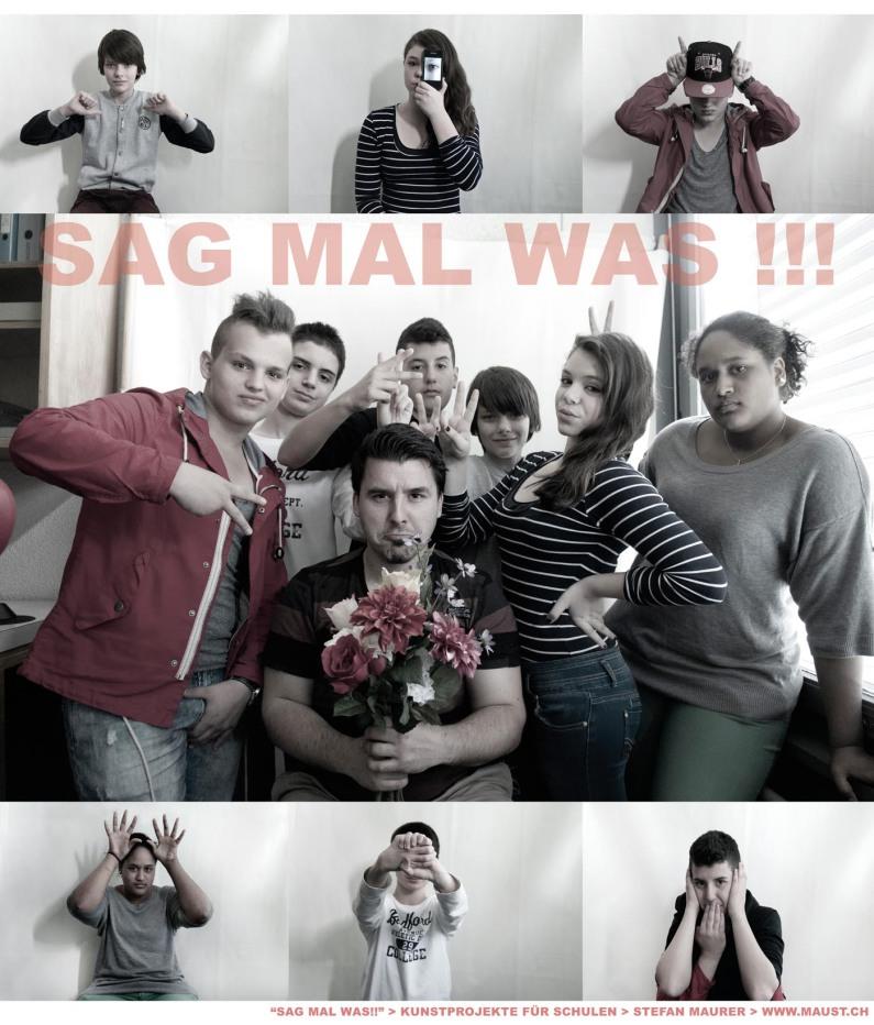 poster sag mal was